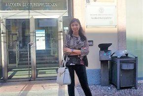 اختيار المحامية المغربية كوثر بدران ضمن أفضل 10 خريجي الحقوق في إيطاليا.