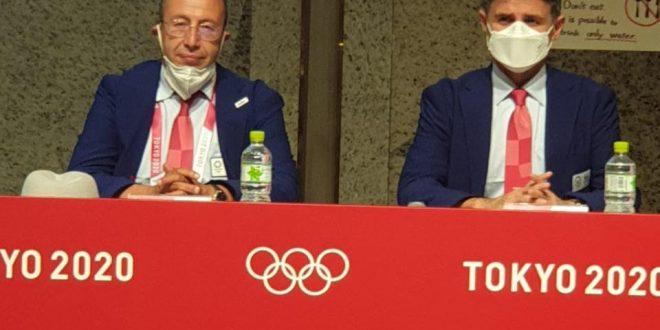 اجتماع اللجنة الفنية ورؤساء المنتخبات خلال عملية القرعة الخاصة بمنافسات التايكوندو لدورة طوكيو 2020