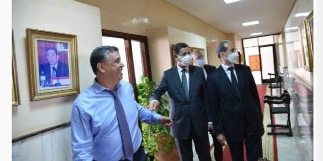 السيد الرئيس المنتدب للمجلس الأعلى للسلطة القضائية، والسيد رئيس النيابة العامة، في زيارة مجاملة للسيد وزير العدل المعين