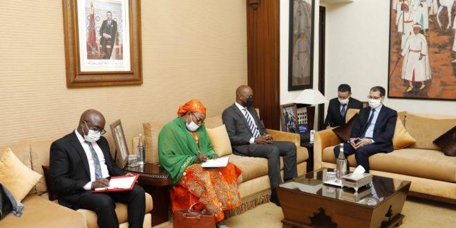 رئيس الحكومة يستقبل الأمين العام لمنطقة التبادل الحر القارية الإفريقية